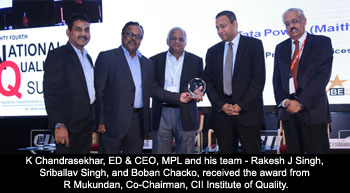CII awards Maithon Power Plant for excellence in Operation and People Management