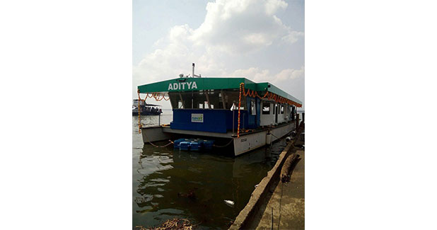 NavAlt, has launched India's first solar powered ferry