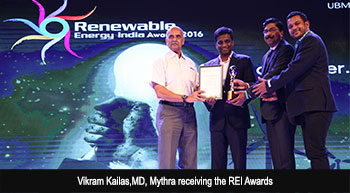 Mytrah Energy wins REI Award 2016 as Leading RE Developer – Wind