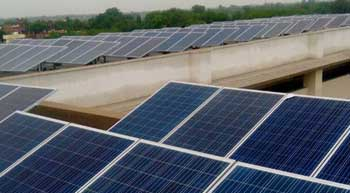 100 kWp grid tied rooftop system installed at Delhi Public School, Varanasi