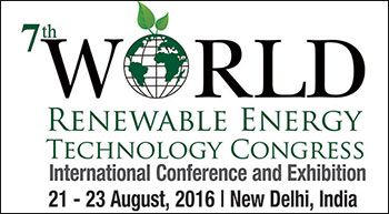 7th World Renewable Energy Technology Congress And Expo 2016