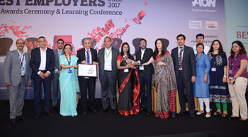 Schneider Electric India bags 'Aon Best Employers India 2017' award