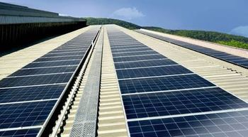 Atlas Copco compressor factory in India powered by solar panels